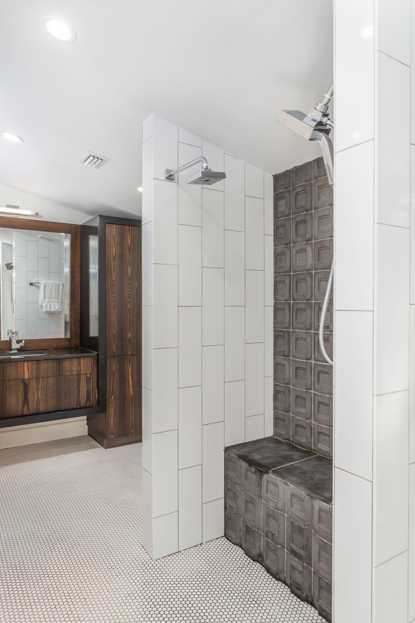 Concrete Tile in Shower