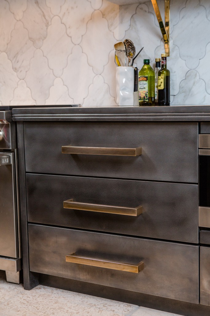 Patina Pewter Cabinets